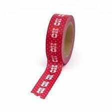 Washi Tape Red Ho Ho Ho 15mm x 10m