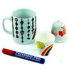 Porcelain  & Glass Pen - RED - Decorate Mugs, Plates and Glass. Dishwasher-safe