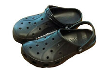 NWT Men's Crocs black Ralen Clog moveable back strap relaxed fit sz Men's 12M