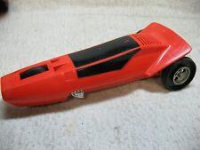 1970'S Vintage Hasbro 3-Wheel 10-Inch Orange Plastic Toy Race Car-Project