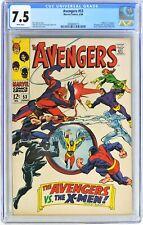 S044. AVENGERS #53 by Marvel CGC 7.5 VF- (1968) 1st X-MEN Crossover in Avengers