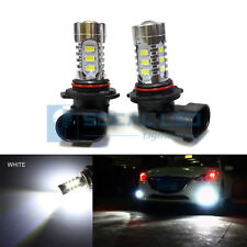 2x White HB4 9006 LED Bulbs 15W SMD 5730 High Bright Fog Light DRL + Projector