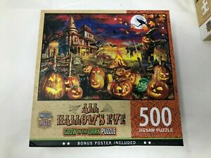MasterPieces Halloween Glow In The Dark All Hallow's Eve 500 Piece Jigsaw Puzzle