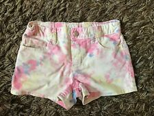 GAP Kids Girls Tie Dye Denim Shorts 12 Years Regular Holiday Summer Hippy