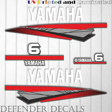 Yamaha 6 HP Two 2 Stroke outboard engine decal sticker kit reproduction 6HP