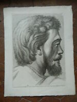 Print Portrait Engraving Etching Paolo Fidanza After Raphael Pl.xxx 18th