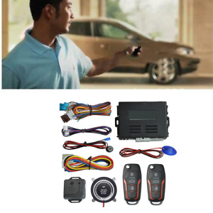 One-Button Keyless Entry Remote Car Engine Start Lgnition Starter Alarm System