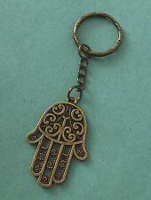 Antique Bronze Hamsa Hand Keyring Bag Charm - Fast Dispatch - UK Seller