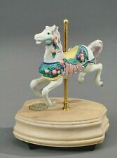"""WESTLAND CAROUSEL HORSE MUSIC BOX, """"UNCHAINED MELODY"""""""