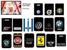 Bmw, Mercedes AMG, VW, Audi, Mini Car logo Air Fresheners (Buy 3 Get 1 Free)