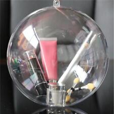 12Pcs Clear DIY Baubles Shatterproof Seamless Plastic XMAS Ball Home Tree Decor