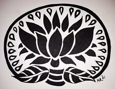 DAILY SKETCH:Original Drawing 'Lotus #5' Michelle Ranson