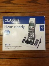 Clarity D613 Dect 6.0 Cordless Amplified Phone with Clarity Power and Call Wa...