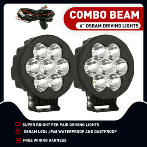 Osram 6Inch Led Spot Driving Light Pair Spotlights Lamp Off Road 4WD Suv 140w