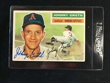 1956 Topps #279 Johnny Groth Autographed