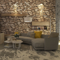 Vintage 3D Stone Wallpaper Rock Wall Paper roll Home Decor Vintage Country Style