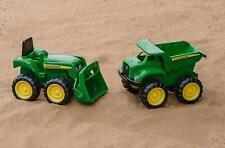 John Deere Tractor Sandbox Toys For Boys Toddlers Kids Mini Digger Truck 2 Pack