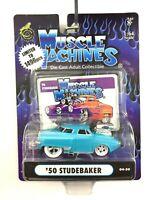 Muscle Machines 1950 50 Studebaker Car Light Blue Die Cast 1/64 Scale