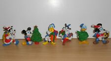 Complete 6 DISNEY Christmas MICKEY DONALD Pluto PVC Figure Figurine MAIA BORGES
