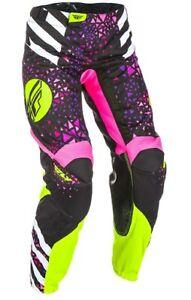 Fly Racing Kinetic Womens Motocross MX ATV Pants Neon/Pink/Hi-Vis 22