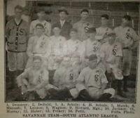 SHOELESS JOE JACKSON Rookie Year - Savannah Indians 1909 Team Picture VERY RARE!