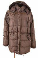 ELLESSE Womens Padded Jacket Size 16 Large Brown Nylon Loose Fit  IG04