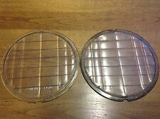 "WOW! Pair vintage MACBETH-EVANS Liberty Lens glass headlight LAMP 8-1/8"" lenses"