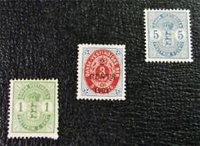 nystamps US DWI Denmark Stamp # 21//24 Mint OG H $31