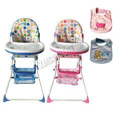 FoxHunter Portable Baby High Chair Infant Child Folding Feeding Seat Bib BHC02