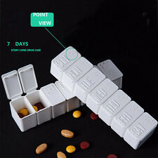Bewegbar Medikamentendispenser Hygiene Pillenbox mit separatem Fach für 7 Tage