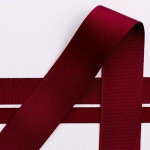 Burgundy Grosgrain Ribbon & Dot Spot. Full Reel 25m (Length) 10mm 25mm Widths