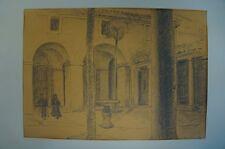 Roma-Roma-Cortile con pozzi, Palma e pilastri-architettura antica
