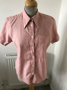 Ben Sherman Fitted Shirt size 10 chest 44  Salmon Pink Modette