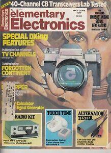 Elementary Electronics Magazine May-June 1977 - Heathkit HW-8 Radio kit