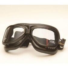 Occhiali Goggle Aviator Old Style Black Biker Moto D'Epoca Vespa Vespone Piaggio