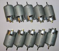 10 X Mabuchi 12V DC Generators - 40 Watts Peak Power - 25 Watts Rated