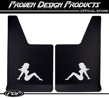 CHEVROLET AVALANCHE Truck Flap Splash Guards, Mud Guards_TRUCKER GIRL_WHITE