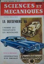 Zeitschrift Sciences und Mechaniken Kein 244 von 1966 Auto Duesenberg 66