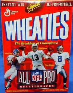 ELWAY - MARINO - AIKMAN 1996 Wheaties 18 oz. Cereal Box ALL PRO QUARTERBACKS