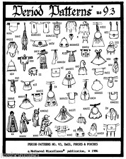 46 Historic Medieval-Renaissance Bags Purses Pouches Period Patterns # 93 Sewing