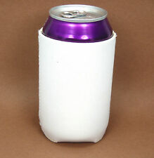 12 Blank Neoprene Beverage Insulators/Can Coolers-White