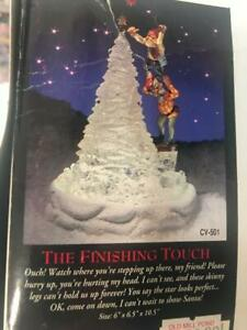 Santa Crystal Valley Christmas FIGI 1995 Vtg Finishing Touch CV-501 NIB $130