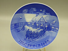 """B&G Bing & Grondahl 1969 """"Arrival of Guests"""" Christmas Collector Plate"""