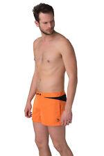 DIESEL - Mohawk Logo Colour Block Beach / Swim Shorts ORANGE - Size 38 / XXL