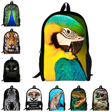 "17""Fashion Animal Backpacks Boys Girls School Bag Women Bookbag Rucksack Satchel"
