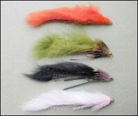 Zuddler Trout Flies, 4 Pack, Mixed Colours, Size 10, Muddler & Zonker Cross