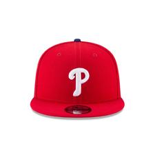 New Era 9Fifty MLB Philadelphia Phillies Basic Snapback Hat Red Color