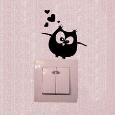 Cartoon Eule Schalter Vinyl Aufkleber Eule Wandaufkleber für Kinderzimmer Wo CBL