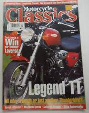 Motorcycle Classics Magazine Legend TT Triumph August 1998 012615R