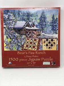 "NEW SunsOut BEAR'S PAW RANCH Cabin 1500 pc Jigsaw Puzzle 24"" x 33"" Diane Phalen"